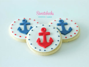 Nautical Anchor Birthday Cookies Shipped Australia Wide