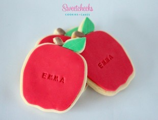 Personalised Apple Cookies shipped Australia Wide