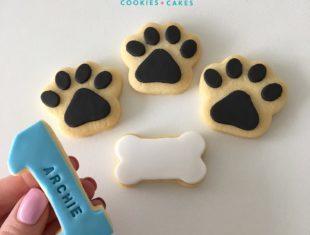 Personalised First Birthday Paw Print Paw Patrol Cookies