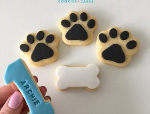 Personalised First Birthday Paw Print Paw Patrol Cookies
