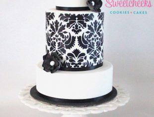 Black and White Same sex gay Wedding Cakes