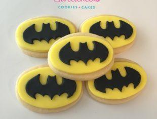 Batman Logo Cookies shipped Australia wide