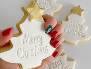 Custom Cookies Melbourne Merry Christmas Trees