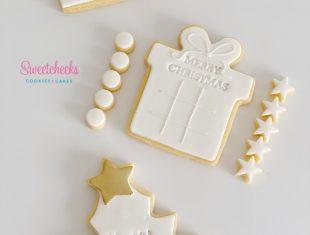 Custom Cookies Melbourne Merry Christmas Cookie Tic Tac Toe Set