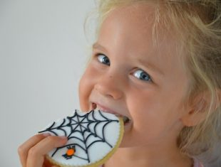 Halloween themed cookies delivered