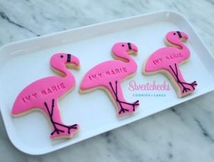 Tropical Theme Flamingo Pineapple Cookies Shipped Australia wide