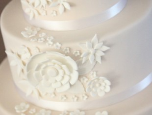 Flower Lace Same Sex Wedding Cakes Melbourne