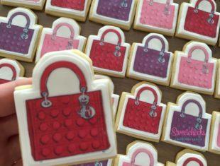 Custom Made Lady Dior Bag Megan Hess Cookies