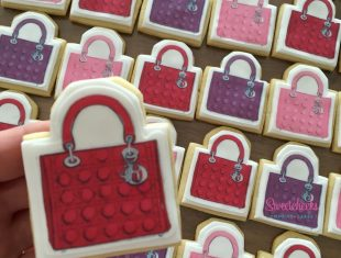 Custom Made Lady Dior Bag Megan Hess Cookies