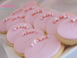 Personalised Bubble Pearl Cookies stamped Name