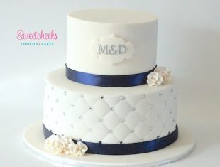 Same sex gay Engagement Cakes Navy