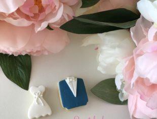 Custom Bride and Groom Wedding Cookies