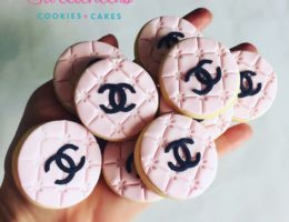 Chanel Mini branded corporate logo cookies shipped Australia wide
