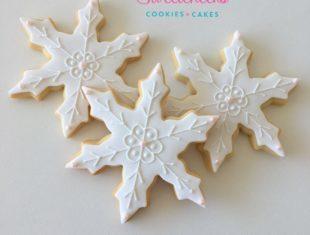 Custom Snowflake Frozen Cookies