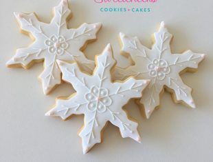 Custom Snowflake Frozen Cookies