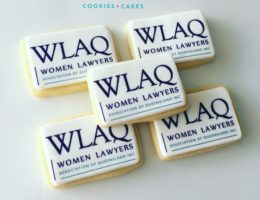WLAQ Corporate branded logo cookies Shipped Australia wide!
