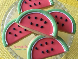 Custom Watermelon Cookies shipped Australia wide