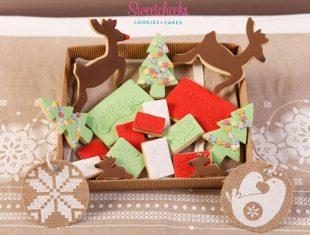 Reindeer Christmas Tree Cookies