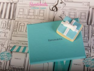 Tiffany & Co Bow Box Cookies. Cookie artist to Tiffany & Co Australia
