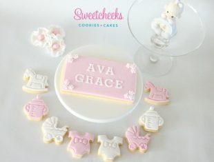 New Baby Shower Cookies
