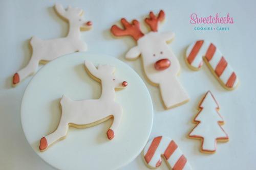 Copper Christmas Cookies Design - Custom Made Cookies Australia