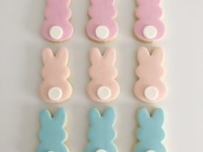 Easter Bunny Cookies shipped Australia Wide, Pastel, Bright, Monochrome Cookies.