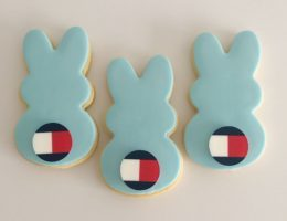 Easter Bunny Logo Cookies shipped Australia Wide, Pastel, Bright, Monochrome Cookies. For Tommy Hilfiger