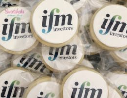 Custom Corporate Logo Branded Cookies Shipped Australia wide by Sweetcheeks Cookies and Cakes
